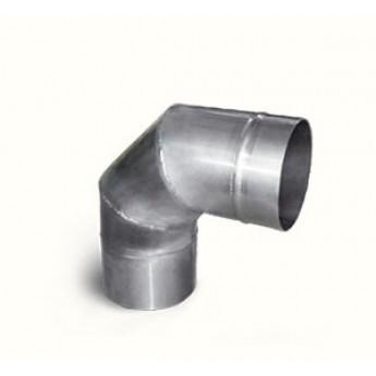 Колено (90 градусов) d=110 мм из нержавеющей стали