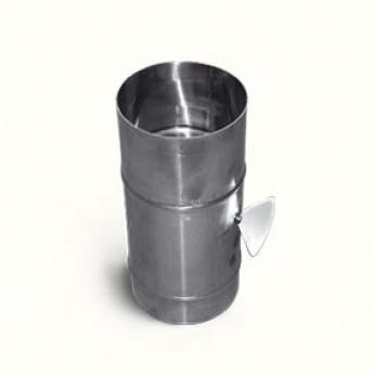 Заслонка из нержавеющей стали Ø 110 мм 0.5 метр