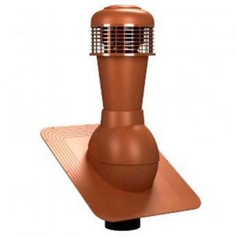 Вентиляционный выход неизолированный D 110 мм Н  495 мм с проходным элементом для мягкой кровли (при монтаже) с электрическим вентилятором 305 куб.м./час