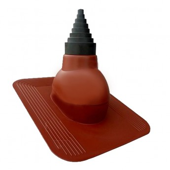 Антенный выход  D  19 - 90 мм  c проходным элементом для мягкой кровли (при монтаже)