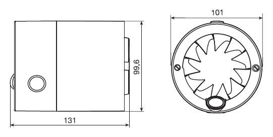Размеры вентилятора Silenttub 100