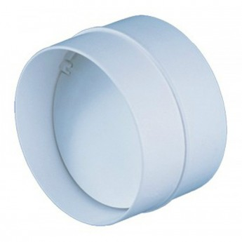 соединитель круглых каналов с обратным клапаном d 100 мм (муфта)