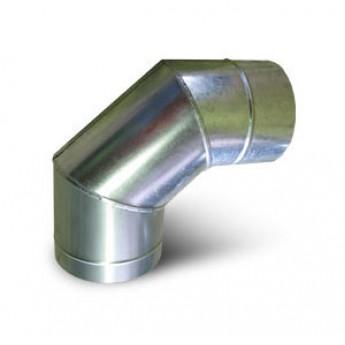 Колено (90 градусов) Ø 115/190 мм из нерж. стали