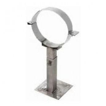 Стенной кронштейн телескопический нерж.  Ø 220 мм l-500-900