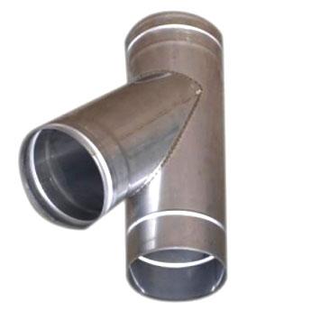 Одноконтурный косой  проходной тройник Ø 120 мм