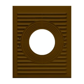 Вент.решётка «MAXPOL» 215×265 (коричневая),универс., D80-140