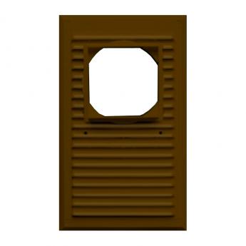 Решётка «MAXPOL» 175×295 (коричневая), D100