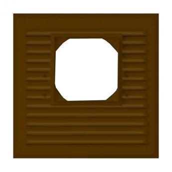 Решётка «MAXPOL» 215х215 (коричневая), D100
