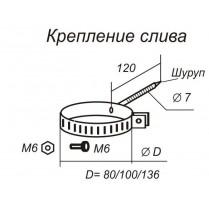 Крепление трубы желоба (шуруп)