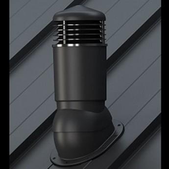 Вентиляционный выход неизолированный D 125 мм Н 500 мм c проходным элементом для  мягкой кровли (при монтаже)
