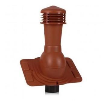 Вентиляционный выход изолированный D 125 мм  Н  550 мм с универсальным проходным элементом для любой кровли