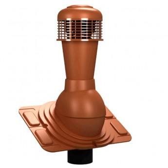 Вентиляционный выход неизолированный D 110 мм Н 495 мм с универсальным проходным элементом для любой кровли с электрическим вентилятором 305 куб.м./час
