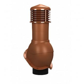Вентиляционный выход изолированный D 150 мм Н 550 мм с проходным элементом для кровли из металлочерепицы