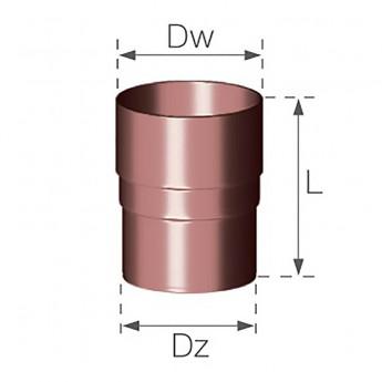 Соединитель трубы 110 мм