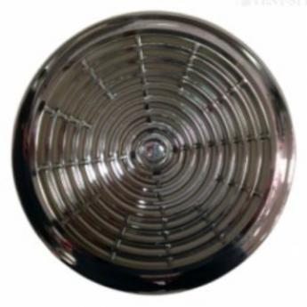 Круглая решетка хром D150