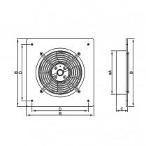 Настенный осевой вентилятор Dospel WOKS 400[Польша]